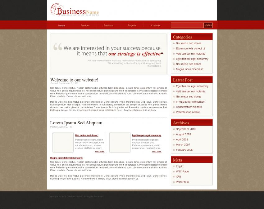 Templatespin web templates business blog template real size screenshot click cheaphphosting Image collections