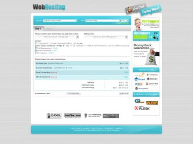 Webhosting Signup Form Step 1