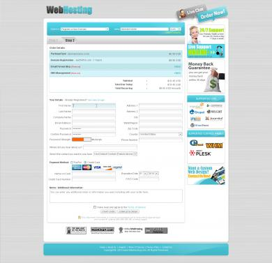 Webhosting Signup Form Step 2