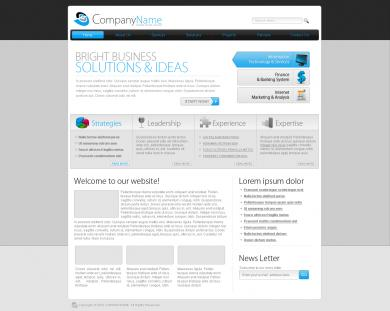 Blue Headings Business Template