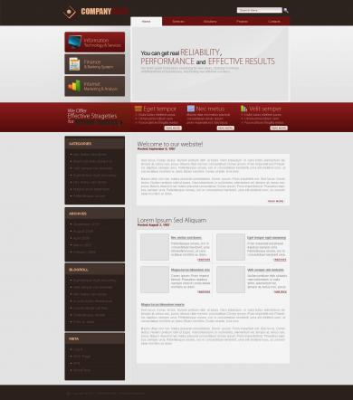 Long Side Business Template (Red)