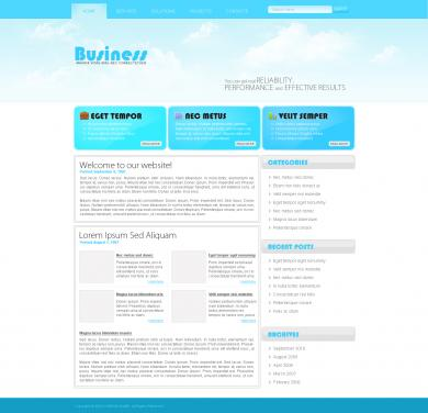 Sky Business Blog Template
