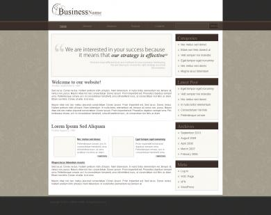 Brown Business Blog Template