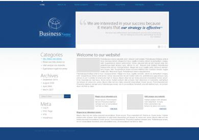 Blue Business Blog Template